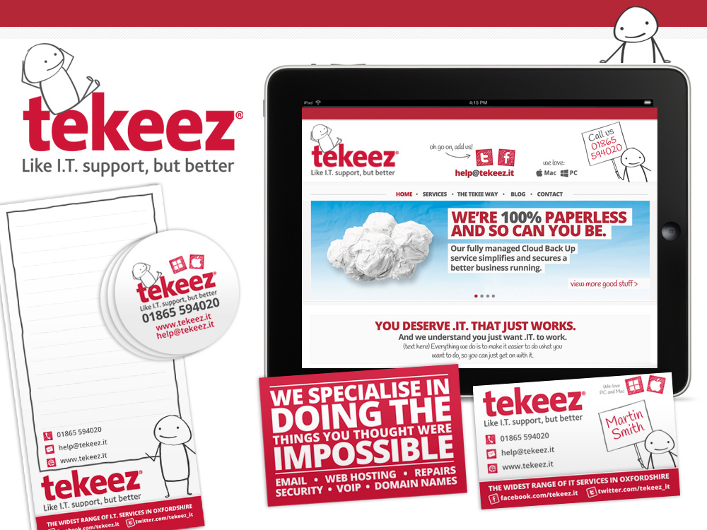 Branding for Oxford IT Company: Tekeez