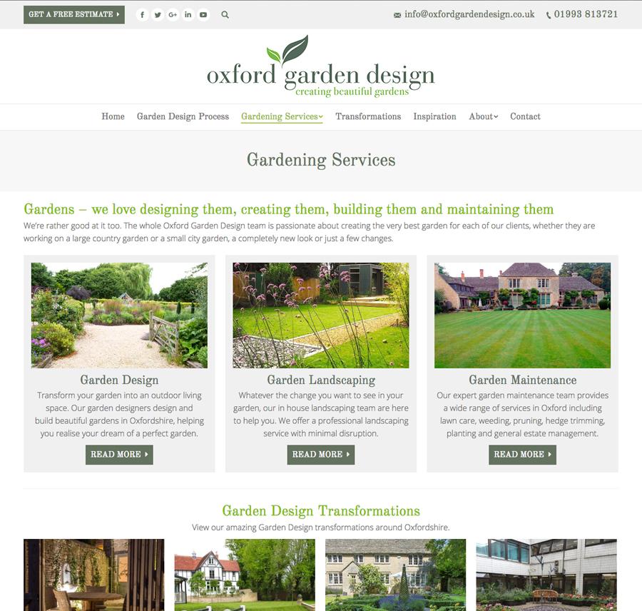 Website design Oxford, Clear & Creative, Oxford